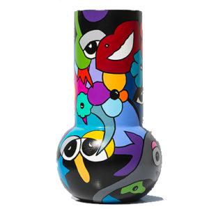 vase coloré et pièce unique réalisé par Sofi, artiste peintre sur Perpignan dans les PO
