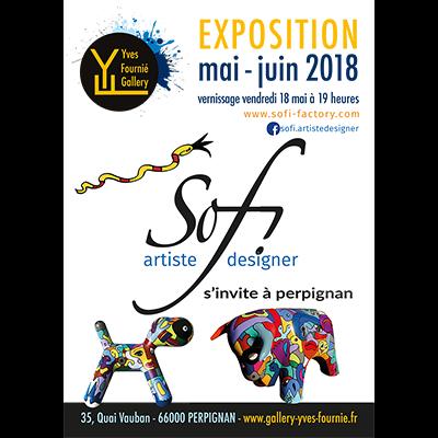 exposition dans galerie d'art à Perpignan dans les Pyrénées orientales de Sofi artiste peintre France