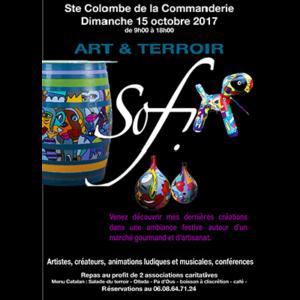 exposition art et terroir à Sainte Colombe de la Commanderie dans les PO 66 , dans les Pyrénées orientales de Sofi artiste peintre France