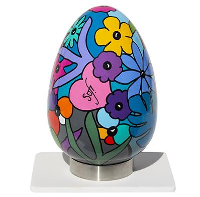 oeuf en céramique réalisé par Sofi, artiste design - objets déco créateur - Style Nikki de Saint Phalle - oeuvres uniques - pièce unique |Livraison possible