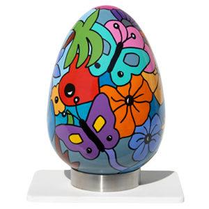 oeuf en céramique en pièce unique réalisé par Sofi, artiste design - objets déco créateur - Style Nikki de Saint Phalle - oeuvres uniques - pièce unique |Livraison possible