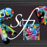 sofi, artiste peintre Perpignan pour des tableaux, sculptures objets déco très colorés et design