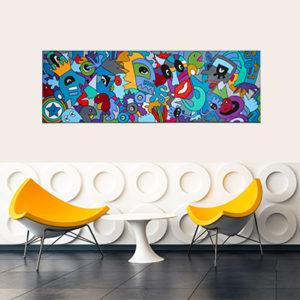 tableau coloré et design pour une décoration d'intérieur unique par Sofi, artiste designer Française