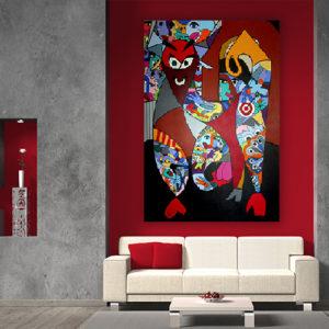 Tableau bandanas del toro, tableau sur le thème des taureaux et corida par sofi artiste peintre