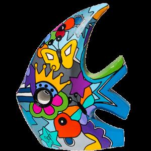 poisson design pour décorer un jardin, une piscine, un extérieur réalisé en pièce unique par Sofi, artiste designer dans le 66