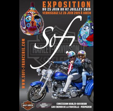 exposition artiste peintre dans les PO chez Harley-Davidson à Perpignan, concessionnaire moto