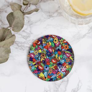 dessous de verre ou sous-verres réalisés pour les fêtes de fin d'année afin de réaliser des cadeaux de noel originaux