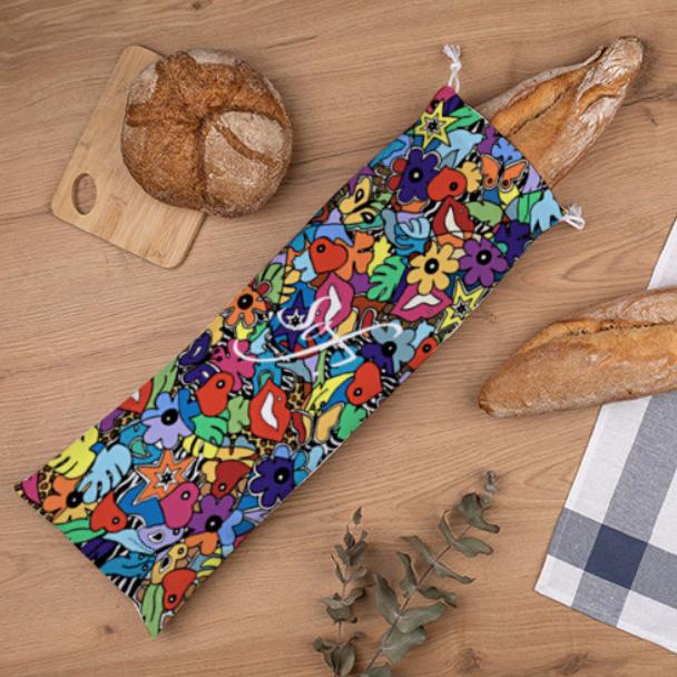 Sac de pain pour les cadeaux de noel originaux et colorés par Sofi artiste peintre France