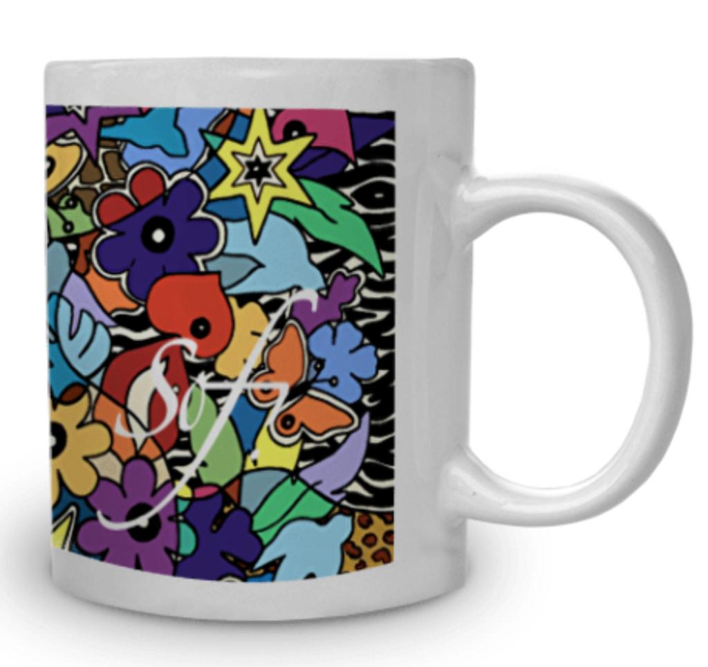 Tasse à café espresso avec son assiette pour des idees de cadeaux de noel originales et design par Sofi