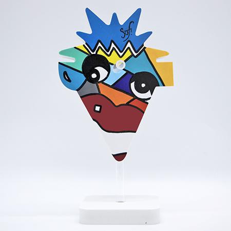 porte lunettes, support de lunettes ou repose lunette original et rigolo pour des cadeaux de noel à petits prix et pour toute la famille par Sofi, artiste peintre Perpignan